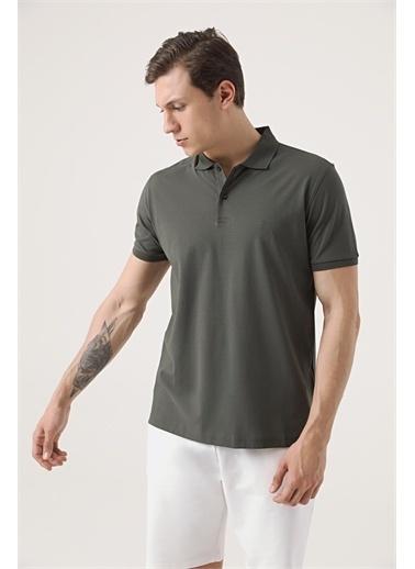 Damat Damat Lacivert 60/2 Merserize T-Shirt Haki